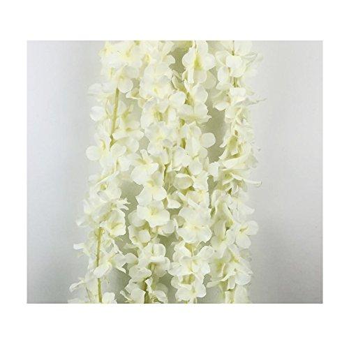 IHRKleid Blumengirlande Kunstblumen Deko Hochzeiten Blauregen Seidenblumen Künstliche home decor Wisteria Blumendeko 200cm (Weiß)