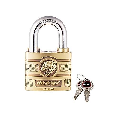 Mindy Schloss mit Schlüssel Zink Legierung eingegeben verschiedenen Vorhängeschloss, 1er Pack, A16-60