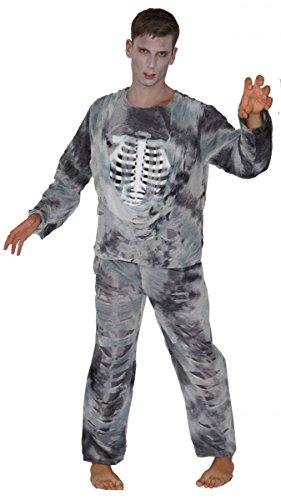 Unbekannt Zombie Kostüme Halloween Skelett Pirat Zombies, Größe:L;Modell:Zombie Skelett