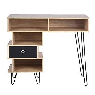 Aingoo Computertisch mit Regal und eine herausnehmbare Schubladen, Schreibtisch,Bürotisch,Arbeitstisch ,Freizeittisch ,PC Tisch,Laptoptisch für das Heimbüro