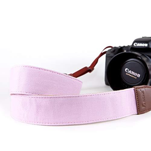 ARCHE Verstellbare und komfortable Hals/Schulter-Kamera-Gurt für alle DSLR Kamera kompatibel Arbeiten mit Nikon/Canon / Sony/Olympus und mehr DSLR, Mirrorless und Sofortbild-Kamera Solide rosa Farbe