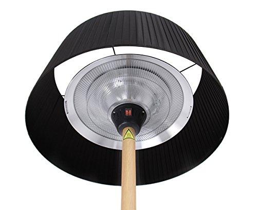 Primrose 2.100 Watt Firefly™ Infrarot-Heizstrahler (Halogen) Terrassenheizung, freistehend, 3 Leistungsstufen, Buchenoptik - 3