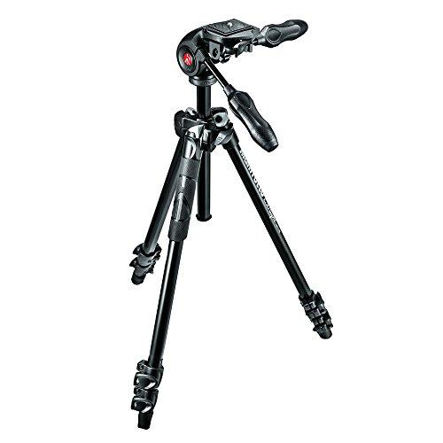 Manfrotto-MK290LTA3-3W-Kit-da-3-Sezioni-in-Alluminio-con-Testa-a-3-Movimenti-Nero