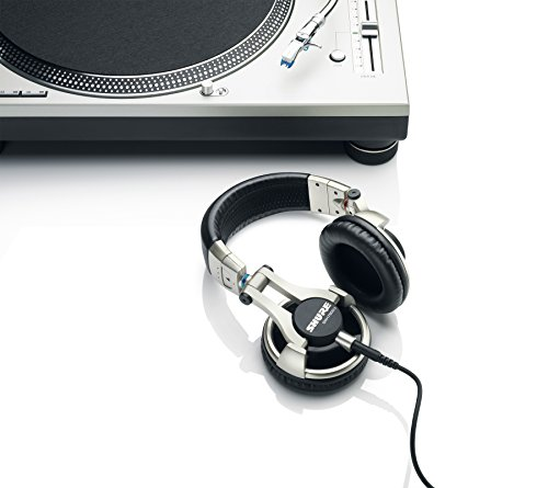 Shure SRH750DJ, geschlossener DJ-Kopfhörer / Over-ear, geräuschunterdrückend, faltbar, drehbare Ohrmuscheln, austauschbares Kabel, druckvoller Bass und erweiterte Höhen - 3