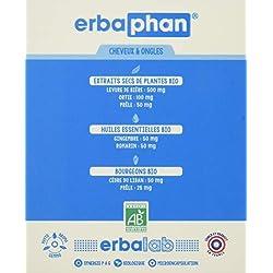 Erbalab Bio Erbaphan Cheveux/Ongles Multi-Vitamines/Minéraux 120 Gélules