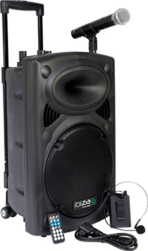 Ibiza Sound PORT12VHF- BT - Megafonia portatil (700 W, USB Bluetooth), color negro