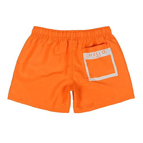 Herren Jungen Badeshorts | Kurze Badehose | Männer Bademode beach shorts Orange