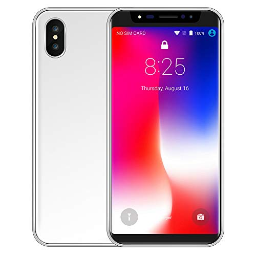 Oasics Smart Cellphone Neue Art und Weise 5,8 Zoll Doppel-HDCamera Smartphone Android IPS-Full-Bildschirm GSM/WCDMA 16GB Touch Screen WiFi Bluetooth GPS 3G Anruf (Silber)