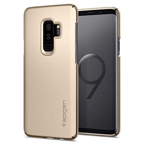 Spigen 593CS23186 Thin Fit für Samsung Galaxy S9 Plus Hülle, Slim PC Schale Hardcase Leicht Dünn Schutzhülle Handyhülle Case Maple Gold