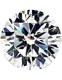 GemsPoint Moissanite D-E-F Colorless Simulated Diamond Loose Stone, Round Brilliant Cut VVSI Clarity