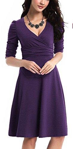 WanderAgio -  Vestito  - Donna Purple Small