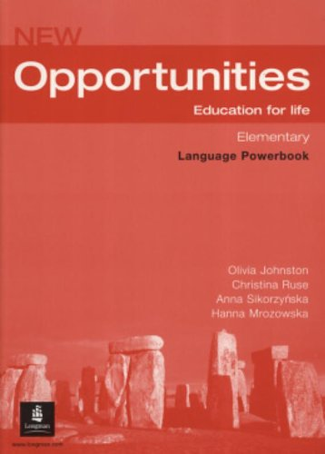 New Opportunities. Elementary. Language Powerbook: Global Elementary Language Powerbook NE