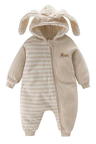 Poliking Neugeborene Unisex Baby Winter Natürliche Bio Baumwolle Weiche, warme, Bio Baumwolle Kapuzenpuppe Anzug und Kleinkind Schuhe (Natürlich) (Berber-kleidung)