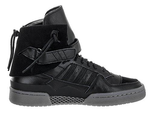 Adidas Forum Hi Moc Synthétique Baskets Cblack-Cblack-Clay Noiess-Noiess-Argile