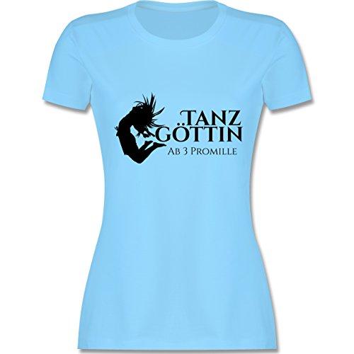 JGA Junggesellinnenabschied - Tanzgöttin ab 3 Promille - tailliertes  Premium T-Shirt mit Rundhalsausschnitt für