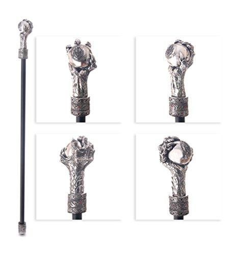 Gehstock mit Drachenkralle als Griff - Große Metall-griff-stütze
