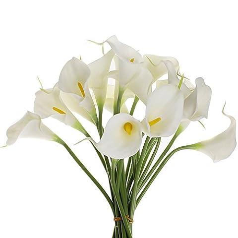 TININNA Lily Calla Artificielle PVC Fleurs Artificielles Bouquets Réel Touch