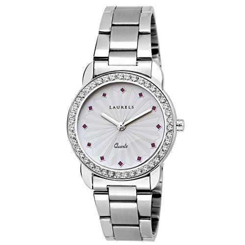 Laurels White Color Analog Women's Watch With Metal Chain: LWW-Cs-140707