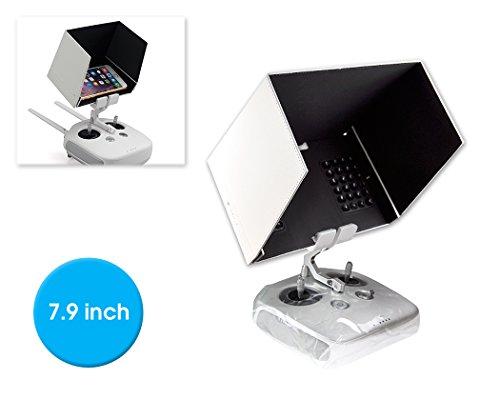 Preisvergleich Produktbild DSstyles DJI FPV Inspire 1 Inspire 2 Fernbedienung iPad Tablet-Monitor Phantom 4/ Phantom 3 Halterung 7.9 '' Sonnenschutz-Haube Blende Abdekung - Weiß