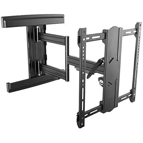 RICOO TV Wandhalterung S5744-B für 55-100 Zoll (ca. 140-254cm) Schwenkbar Neigbar Wand Halter Universal Fernseh Aufhängung Halterung auch für Curved LCD & LED Fernseher | VESA 200x100 400x400 Schwarz