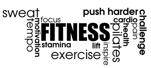 Gro?e Fitness Words???Zitat Aufkleber, Ergometer Cardio, Crossfit Aufkleber Motivational Workout exrcise Sport Fitness Zitate Wand Vinyl Aufkleber Aufkleber Art Decor DIY