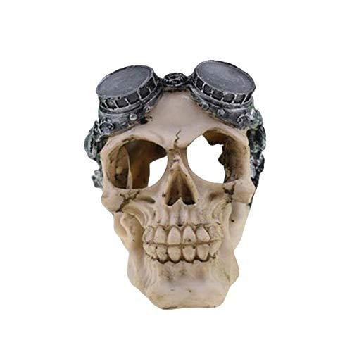 Erqingzs decorazione di halloween halloween skull decor horror comedy novità realistico resina parodia teschio umano testa forma ornamento prop toy decor