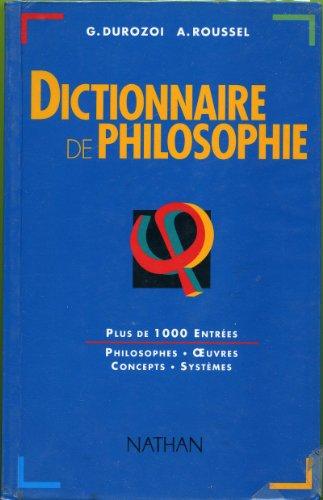 Dictionnaire de philosophie.