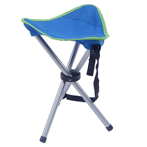 Klappstativ Field Chair Outdoor-Sitz Angelstühle Blau Multifunktions Mit Rückenlehne Reisestuhl C-Serie Slacker, Super Compact, Klappstativ Camping Hocker -