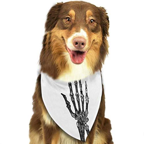 (Rghkjlp Dogs Bandana Collars Skeleton Hands Pets Triangle Neckerchief Puppy Bibs Scarfs Cats Scarfs Towel)