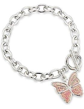 Schmetterlings Glücksbringer Armband für Kinder - passende Ohringe erhältlich. Kommt mit exklusiver Geschenktüte