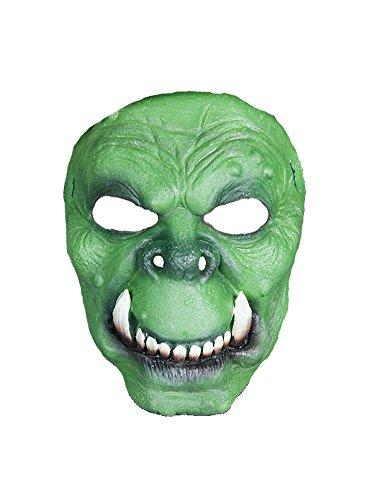Halloween Karneval Party Kostüm Ork Maske des Grauens aus Latex für Erwachsene