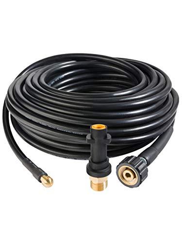 Arebos Tuyau de nettoyage de canalisations / 20 m / 180 bar / Pour la connexion à un nettoyeur haute pression