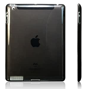 Invero Black TPU Gel Case for Apple Ipad 2 Includes Screen Protector (All Versions)