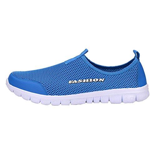 Chaussures De Plongée Pour Hommes - Sporty Tennis Eau Respirant Mesh Respirant Slip-on Water Shoes Highdas Blue