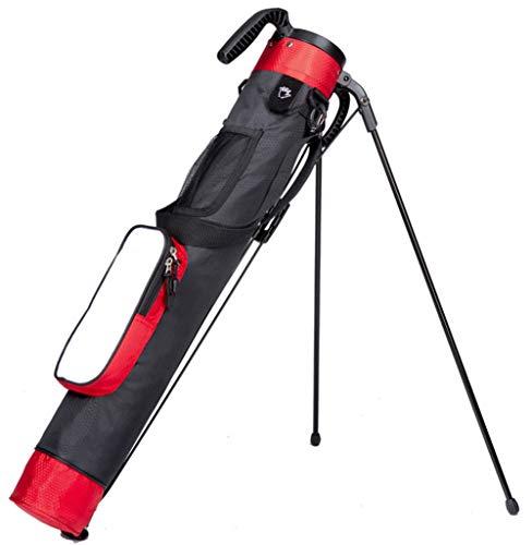 Golf Stand Bag Nylon Tragbares Leichtgewicht FüR GolfschläGer und ZubehöR,Black