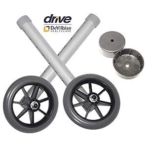 Ersatz-Räder, 12,7 cm, für Drive Devilbiss Rahmen – inkl. 2 Rückgleitern