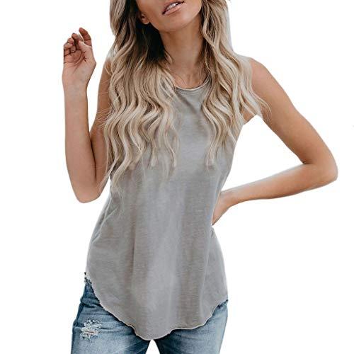 only storerine 2019 populärste Damenhemdweste, Art und Weisefrauen Sommerweste Sleeveless Normallack beiläufiges T-Shirt