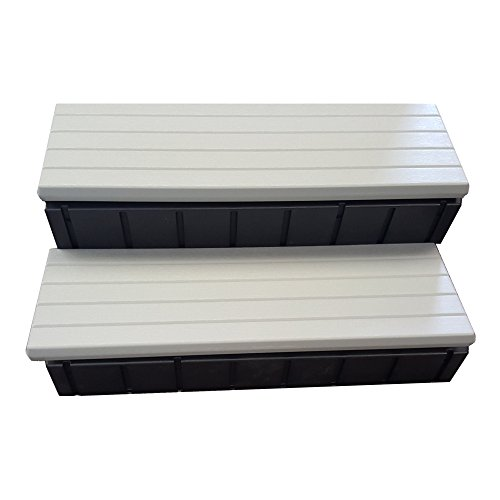 QCA Spas lass36-g-bl Zwei Straffen Spa Schritt, 91,4cm, grau/schwarz -