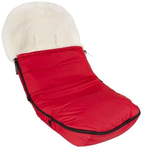 Kaiser 6810533 - Fußsack für Marke Bugaboo, Lammfell weiß, Farbe: rot