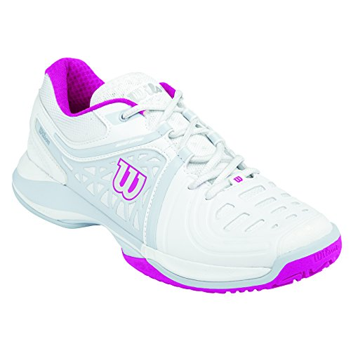 Wilson Nvision Elite Woman,   Tennisschuhe, Weiß (White/Steel Grey/Cool Grey W), 40 1/3 EU (6.5 UK)