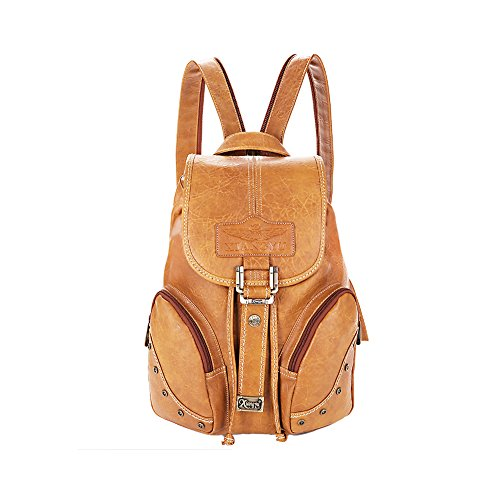 Lycailcy LYC-Lycailcy-A05-5, Borsa a zainetto donna marrone Light Brown(10.2 x 5.9 x 14.2 inches) taglia unica Camel(10.2 x 5.9 x 14.2 inches)