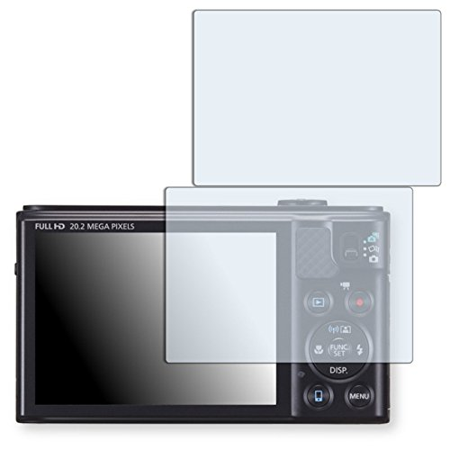 2 x Golebo Displayschutzfolie für Canon PowerShot SX610 HS Schutzfolie Folie