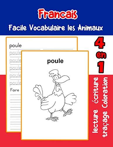 Francais Facile Vocabulaire les Animaux: De base Français fiche de vocabulaire pour les enfants a1 a2 b1 b2 c1 c2 ce1 ce2 cm1 cm2 (vocabulaire les animaux pour decrire une image en francais, Band 34) (Le Halloween Mot)