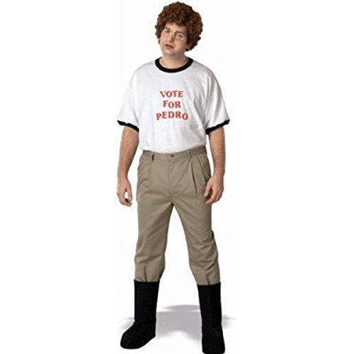 Napoleon Dynamite Complete Kostüm Kit: Erwachsene Vote For Pedro T-Shirt und Zubehör, Medium -