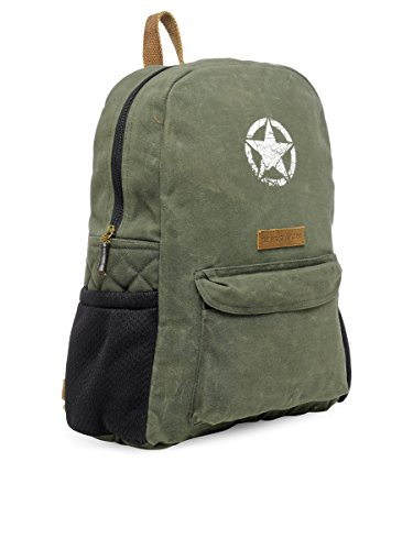 Best canvas backpack in India 2020 The House Of Tara Rugged Unisex Laptop Backpack (Moss Inexperienced) HTBP 164 Image 4