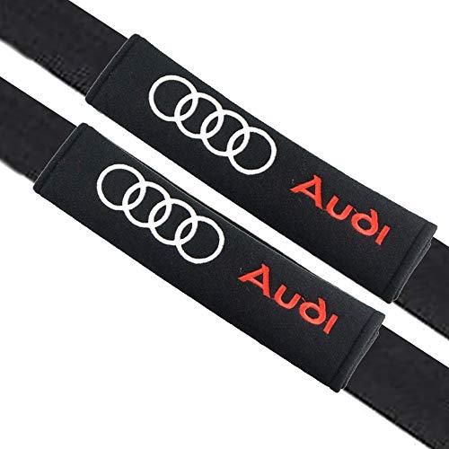 VILLSION 2Pack Almohadillas para cinturón de seguridad Auto accesorios Audi, Algodón suave protege tu cuello y hombros para adultos y niños