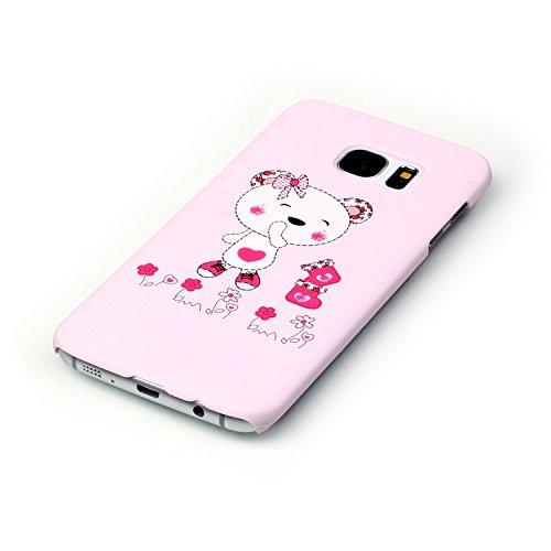 Samsung Galaxy S7 Custodia, Samsung Galaxy S7 Cover, Bonice Ultra Sottile PC Hard Back Antiurto Shock-Absorption Durable Case Elefante + 1x Protezione Dello Schermo Screen Protector Pattern 03