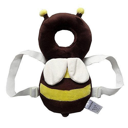 [KuYou] Baby Toddlers Head Protective , Adjustable Infant Safety Pads For Baby Walkers Protective Head and Shoulder Protector Prevent Head Injured Suitable Age 4-24 Months,Ladybugs (Yellow +White)