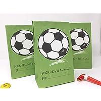 8 STÜCK Mitgebseltüten Kindergeburtstag Fußball Motiv