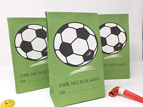 Deingastgeschenk 8 Stück Mitgebseltüten Kindergeburtstag Fußball